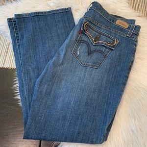 LEVIS 515 Bootcut Embellished Button Pocket Jeans